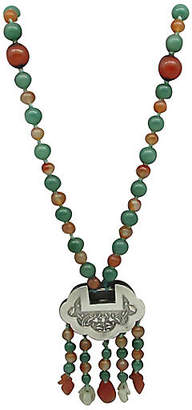 One Kings Lane Vintage Jade & Carnelian Necklace