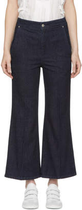 Isabel Marant Navy Parsley Kick Flare Jeans