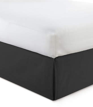 "Colcha Linens Cambric Black Bedskirt 18"" Drop California King Bedding"