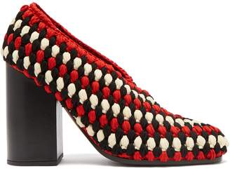 Meg Macrame Block Heels - Womens - Black Multi