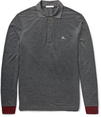 Burberry Brit Slim-Fit Contrast-Trimmed Piqué Polo Shirt $325 thestylecure.com