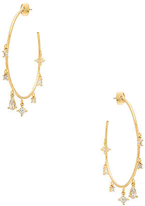 Luv Aj The Scattered Gem Statement Hoops