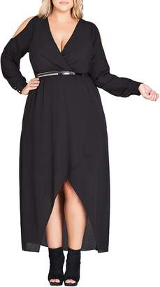 City Chic Sinister Cold Shoulder Maxi Dress