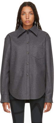 Acne Studios Grey Wool and Cashmere Flannel Shirt