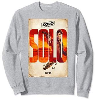 Star Wars Han Solo Movie Release Date Poster Sweatshirt