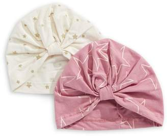 Jessica Simpson Printed Turban Hat 2-Pack