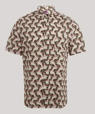 Liberty London Palm Tree Men's Linen Shirt