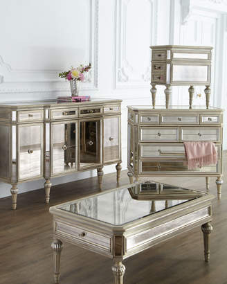 Horchow Dresden Mirrored Coffee Table