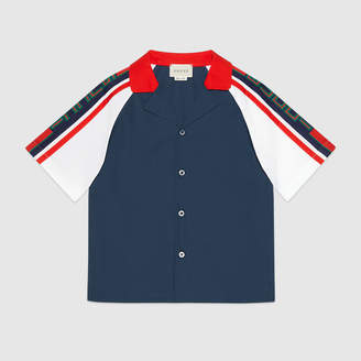 Gucci Children's poplin shirt with stripe