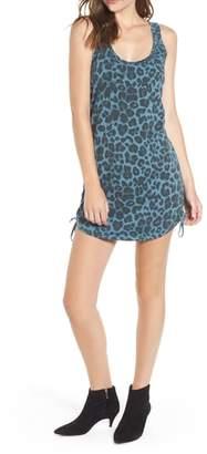 Pam & Gela Leopard Print Racerback Cotton Minidress