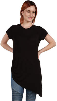 24/7 Comfort Apparel Zola Asymmetric Short Sleeve Tee