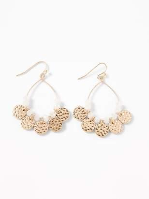 Old Navy Beaded-Coin Hoop Earrings for Women