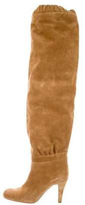 Chloé Ruched Suede Boots