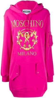 Moschino logo printed hoodie dress