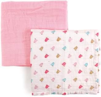 Luvable Friends 2 Piece Muslin Swaddle Blankets