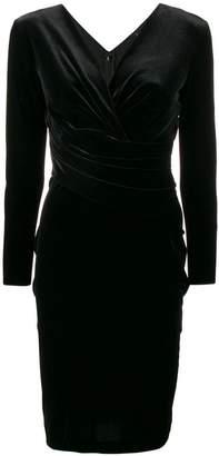 Emporio Armani fitted V-neck dress