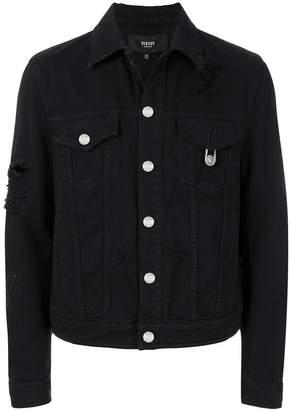 Versus distressed denim jacket