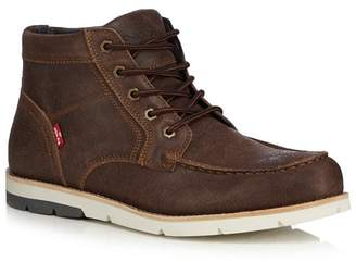 Levi's LEVIS Brown Leather 'Dawson' Lace Up Boots