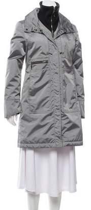 Post Card Hooded Zip-Up Coat