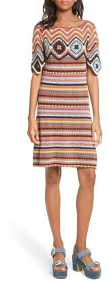 See by Chloe Stripe Crochet Dress