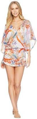 Luli Fama Merenguito Cabana V-Neck Dress Cover-Up Women's Swimwear