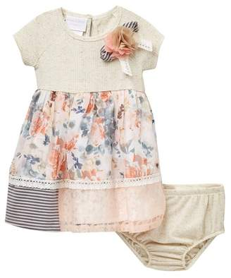 Iris & Ivy Short Sleeve Knit Babydoll Dress (Baby Girls)