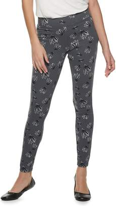 Utopia By Hue Women's Utopia by HUE Frosted Water Lily Jean Skimmer Leggings
