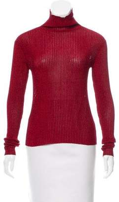 Tibi Turtleneck Long Sleeve Top