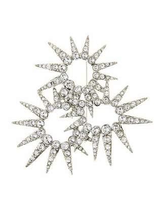 Oscar de la Renta Sea Urchin Crystal Brooch