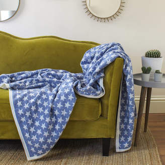 Marquis & Dawe Blue Star Blanket Throw