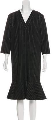 ARTHUR ARBESSER Metallic Wool Dress Black Metallic Wool Dress