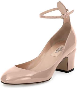 Valentino Garavani Tango Patent Ankle-Wrap Pump $845 thestylecure.com