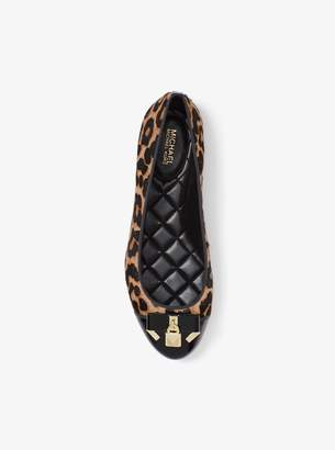 MICHAEL Michael Kors Alice Leopard Calf Hair Ballet Flat