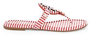 Tory Burch Women's Miller Striped Leather Sandals