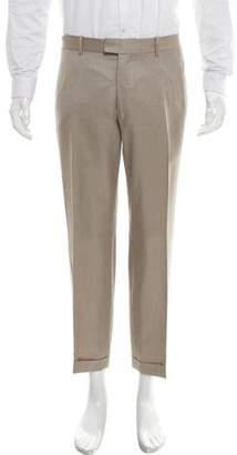 Alexander McQueen Flat Front Virgin Wool Pants
