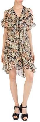 The Kooples Wanted Cold-Shoulder Floral Dress