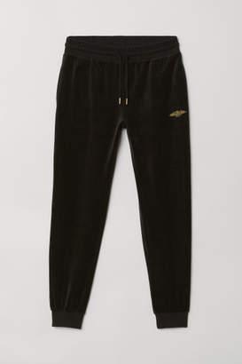H&M Velour Joggers - Black