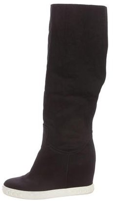 Casadei Foldover Knee-High Boots $180 thestylecure.com