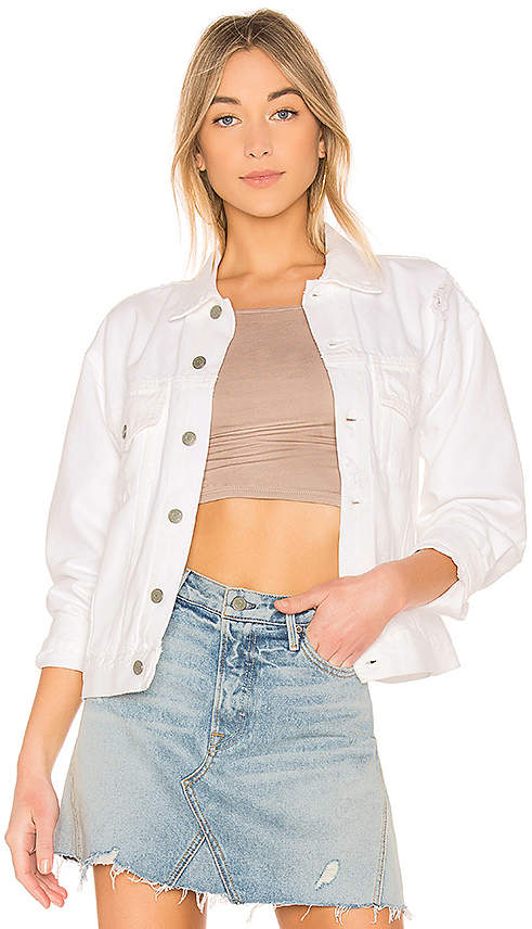 Kim Boyfriend Trucker Jacket.