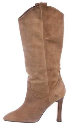 Manolo Blahnik Leather Mid-Calf Boots Leather Mid-Calf Boots