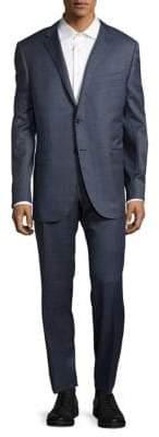 Corneliani Windowpane Italian Wool Suit