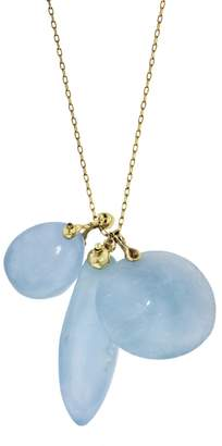 Ten Thousand Things Aquamarine Triple Turtle Fetish Charm Necklace