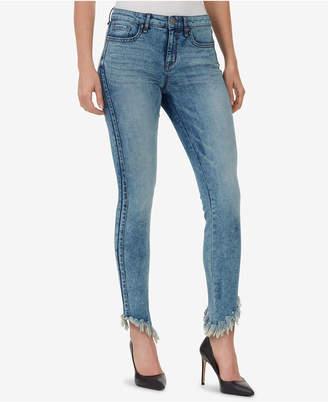 William Rast Perfect Skinny Frayed Asymmetrical Jeans