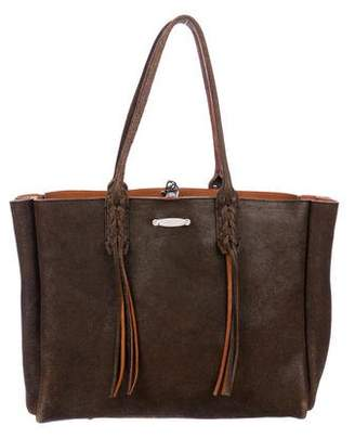 Lanvin Leather Fringed Shopper Tote
