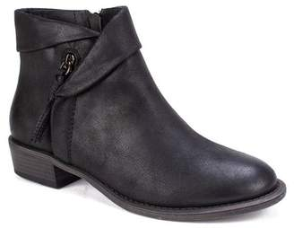 White Mountain Driver Faux Leather Bootie