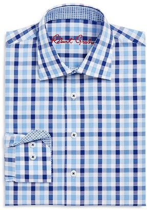 Robert Graham Boys' Large Check Dress Shirt - Big Kid $79.99 thestylecure.com