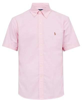 Polo Ralph Lauren Logo Embroidered Button Down Cotton Shirt - Mens - Pink