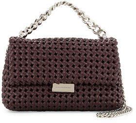 Stella McCartney Bex Small Woven Flap Shoulder Bag