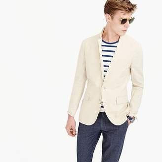 Ludlow unstructured cotton-linen blazer in khaki sand $168 thestylecure.com