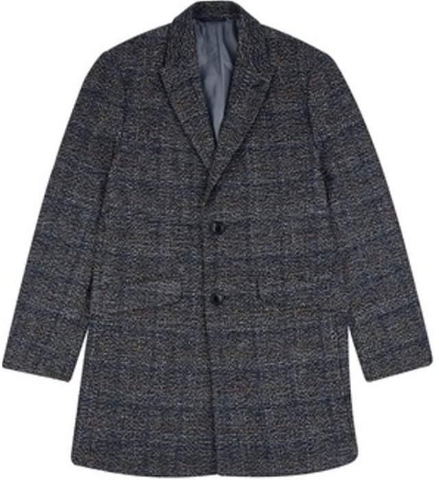 Womens **Burton Textured Grey Faux Wool Chesterfield Overcoat